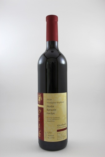 Merlot Rotwein QbA trocken 2012