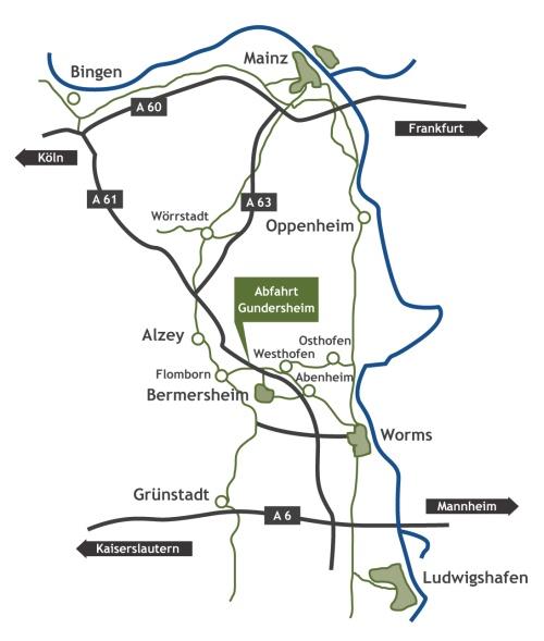Anfahrtkarte zum Weingut Peth