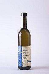 Zu sehen ist die verschlossene Weinflasche des Spätburgunder Weissherbst Blan de Noir Spätlese feinherb.